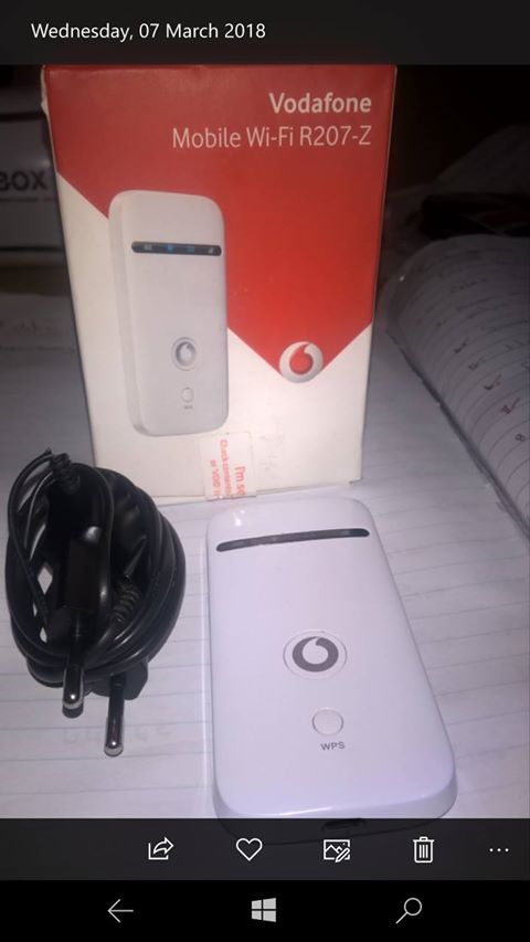 vodafone wifi mobile router R207z | Junk Mail
