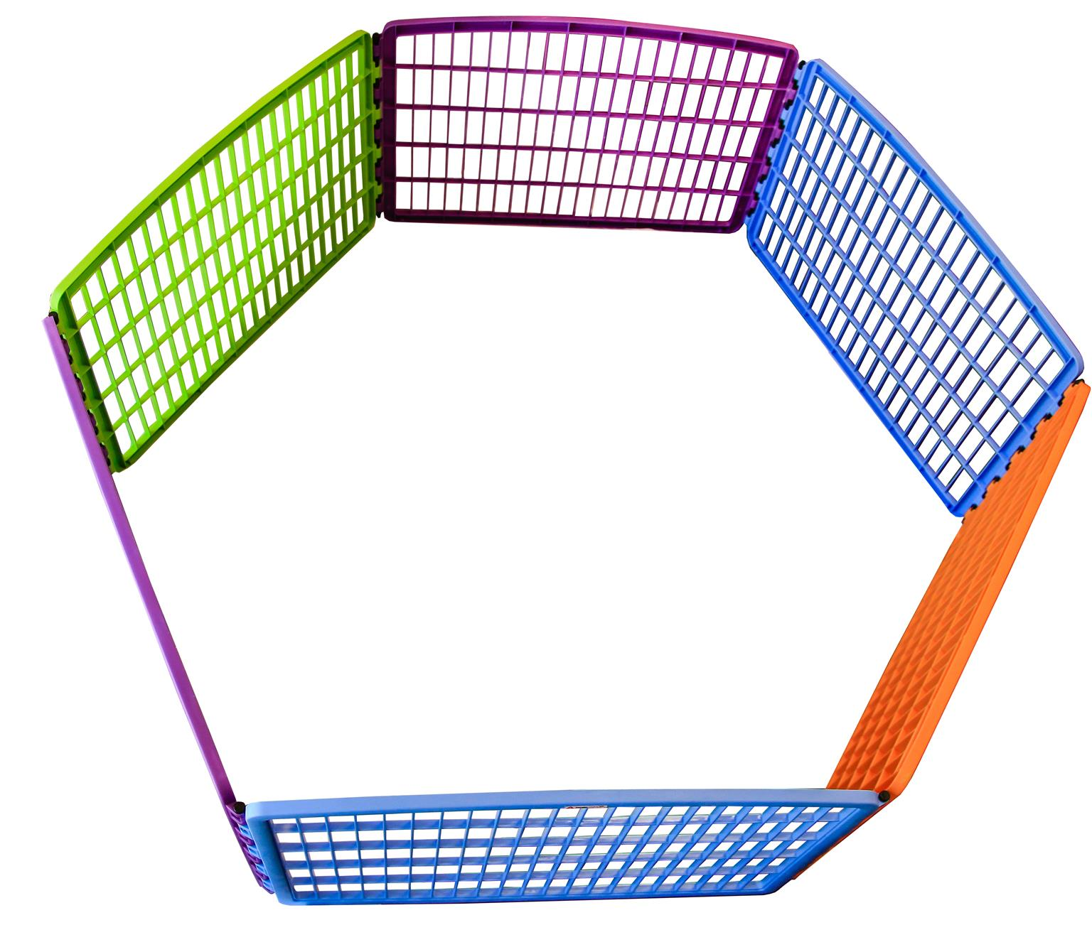 Multi-coloured pet playpen WITH extension kit [Plastic]