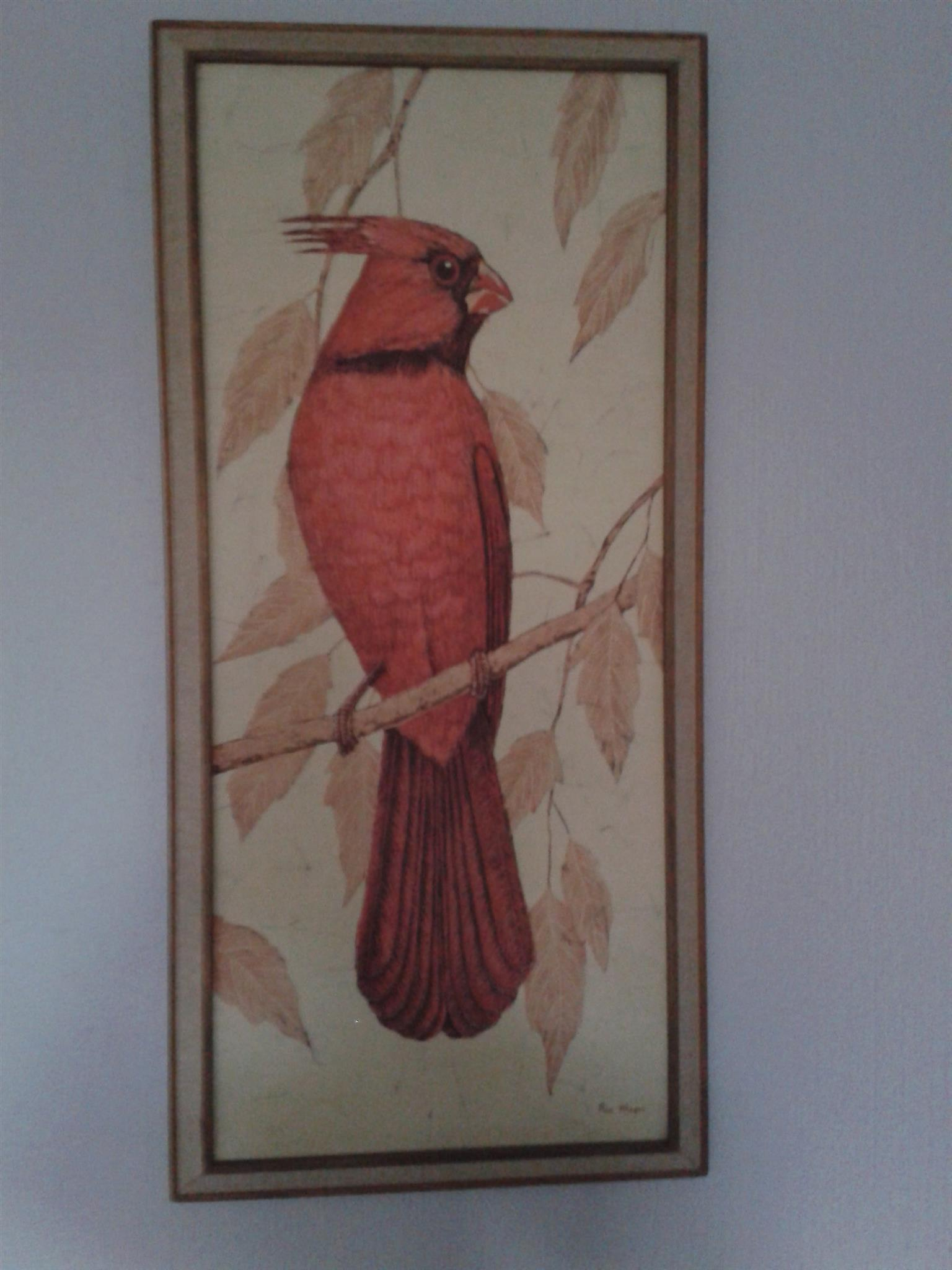 Framed Batik work - Bird
