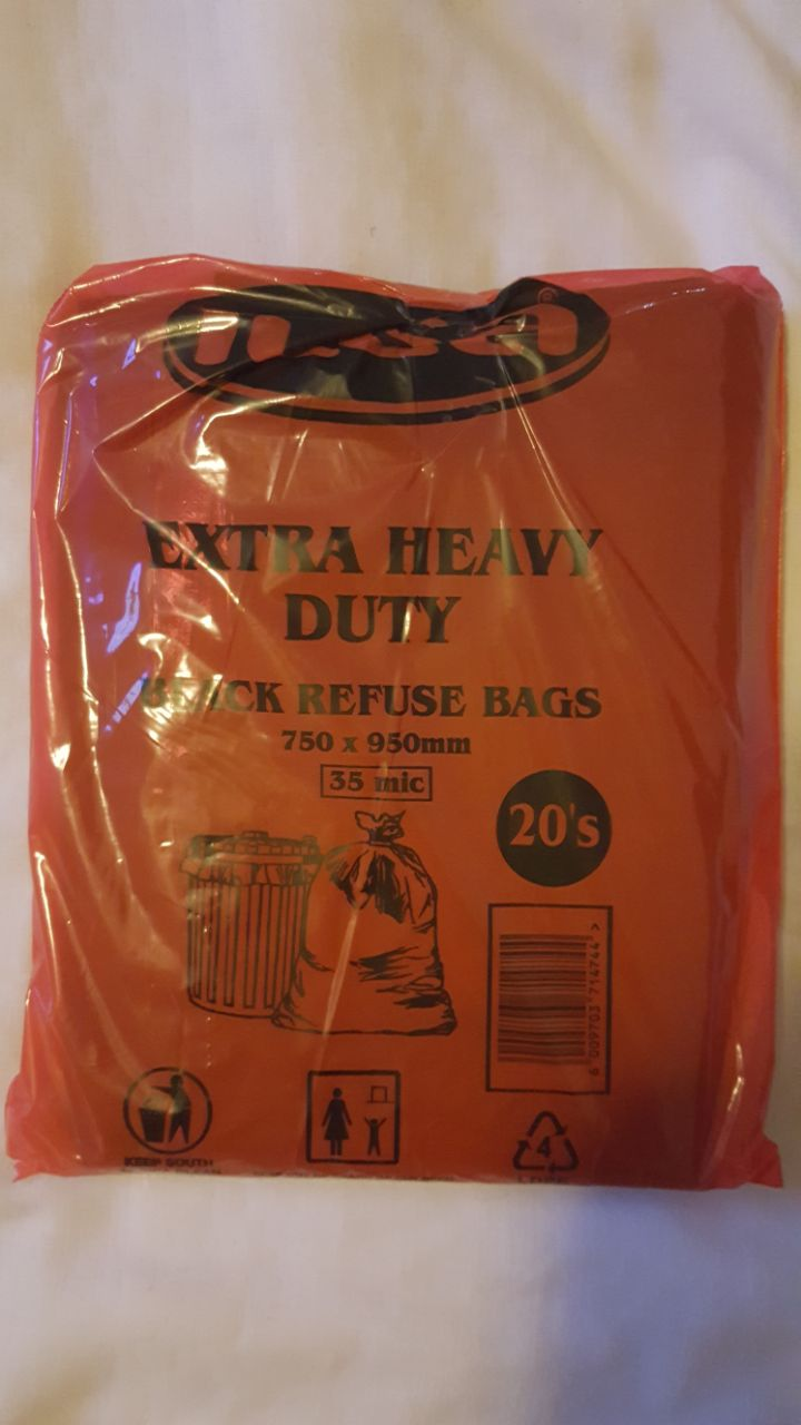 Extra Heavy Duty Garbage Bags