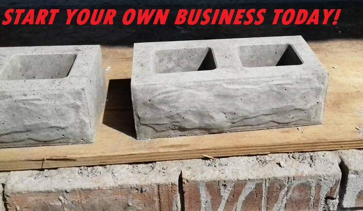 START MAKING your own concrete Paving Bricks, Tiles and Cobble Stones TODAY