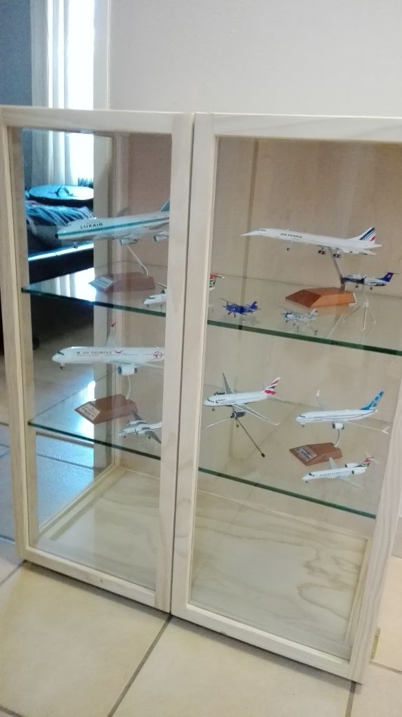 "Aviation  ""Display -Aircraft  Display /Show Cabinet with unrestricted view, Dust Proof - Custom made"