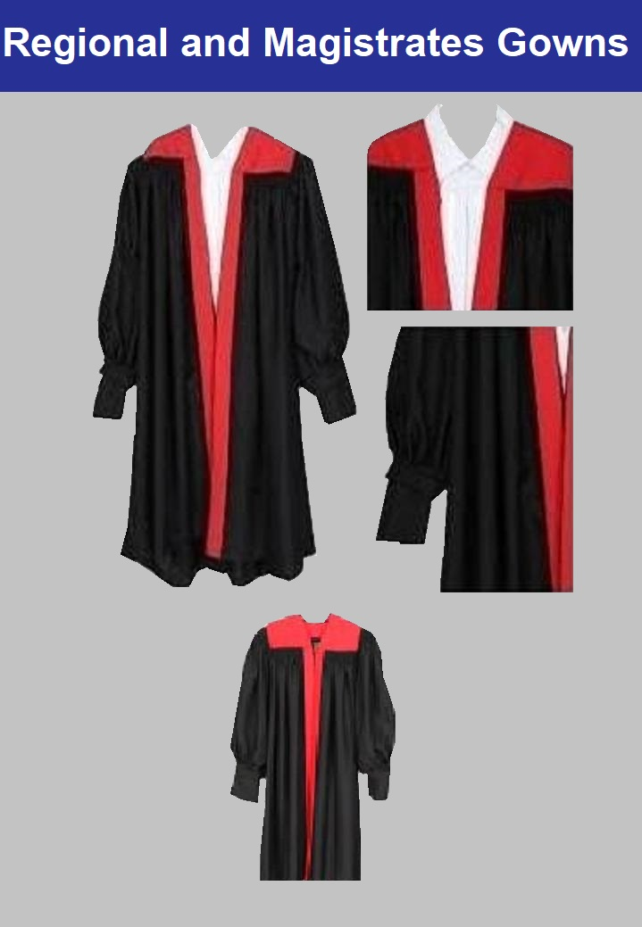 Magistrate  Offer  Gown   {100%  Polyester }      Gown Bag  {Polyurethane }	...