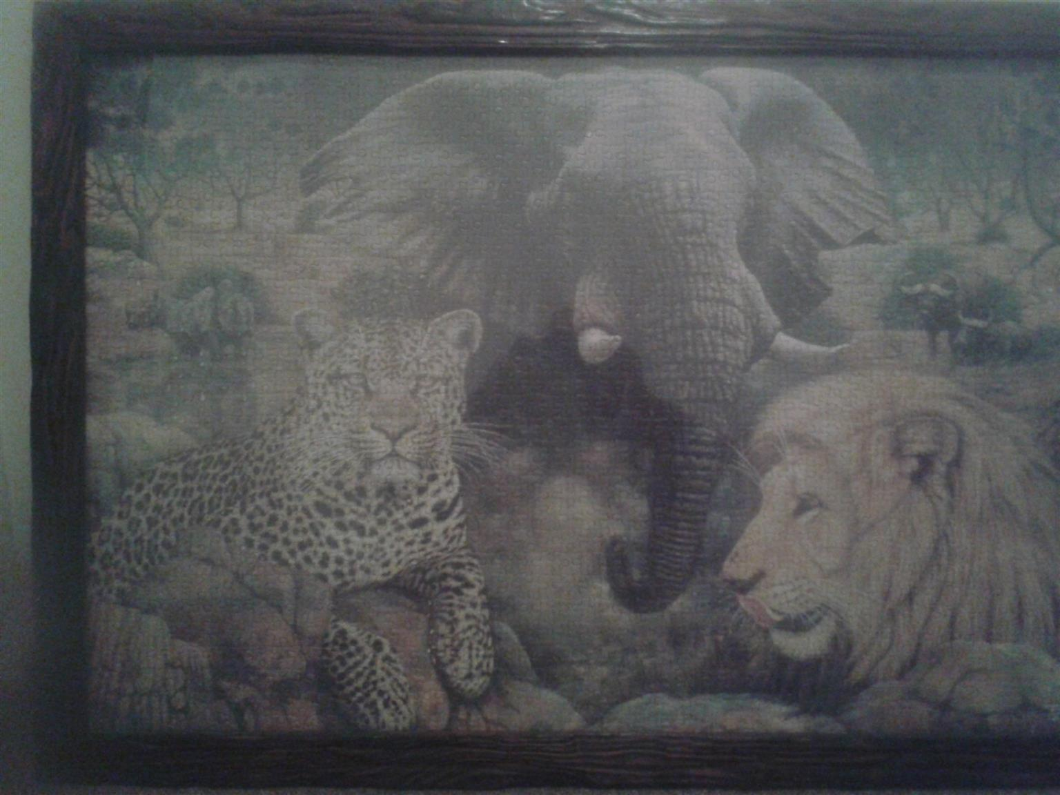 Framed Jigsaw 1600 puzzle of Big Five