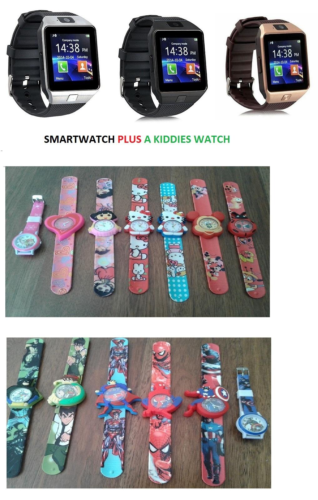 High Quality watch phone (smartwatch) PLUS Kiddies slapband windup-watch