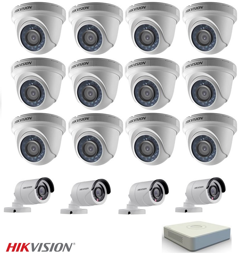 Complete 720p 16Ch Hikvision CCTV System
