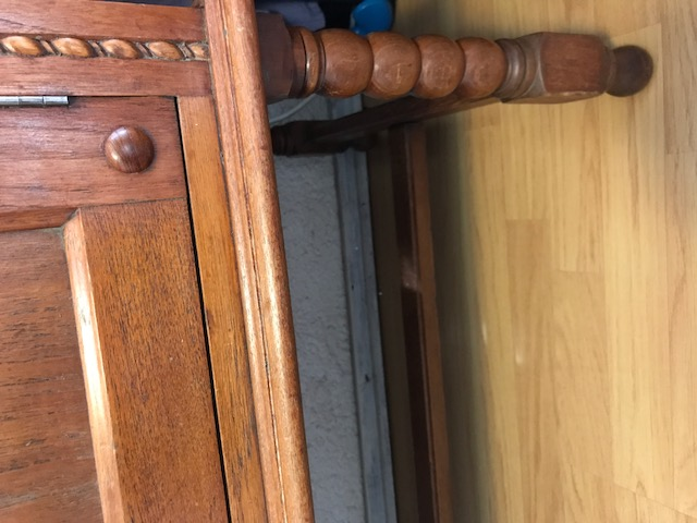 Antique early 1900's solid oak server