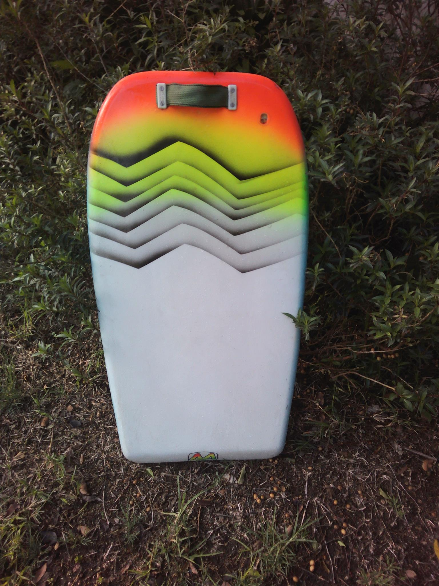Classic Belly Surfboard - complete with tether and two fins