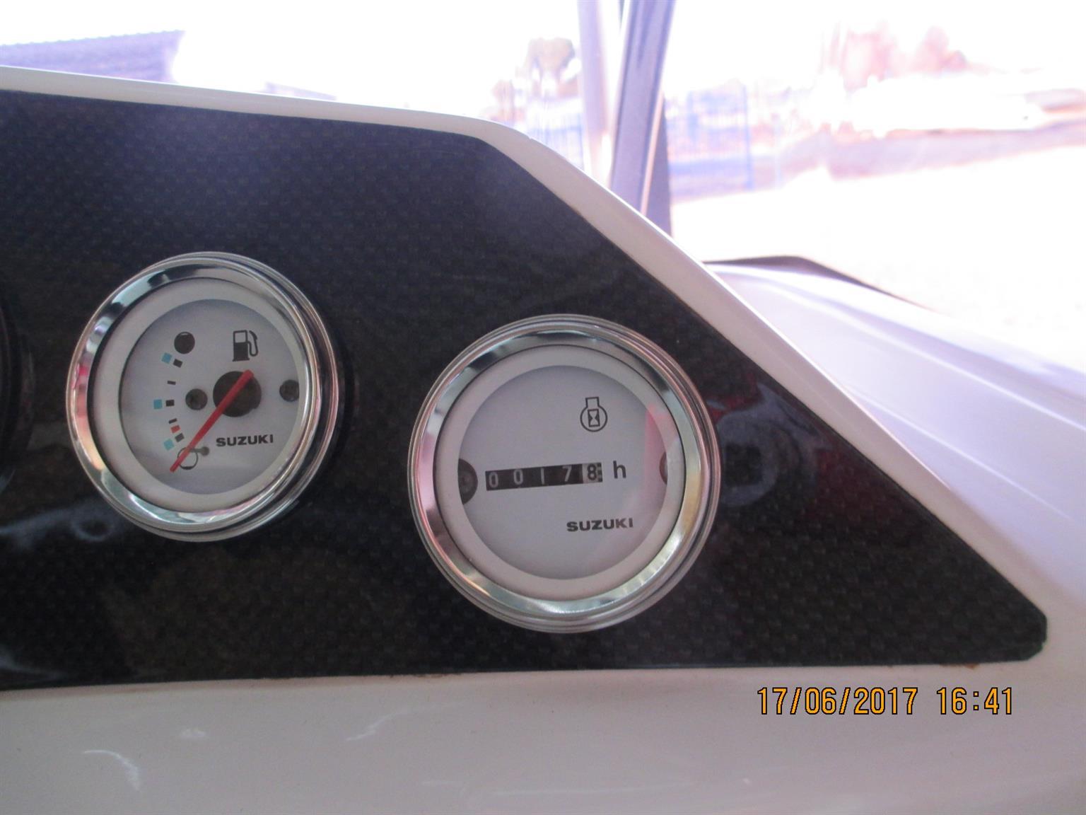 Ace Jazz fitted with 115hp 4stroke Suzuki Engine