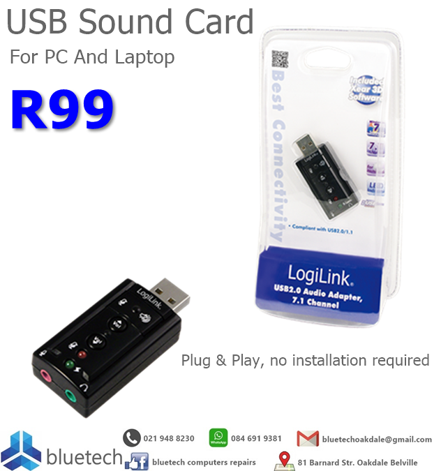 USB Sound Card for PC and laptop