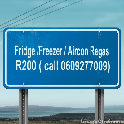 FRIDGE / AIRCON REGAS R200 - ALL AREAS COVERED - NO CALL OUT FEE