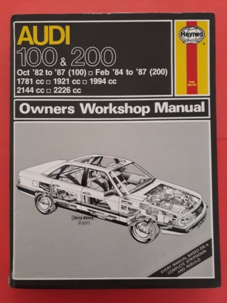 Used, Audi 100 & 200 - Owners Workshop Manual - Haynes - 907. for sale  Johannesburg - East Rand