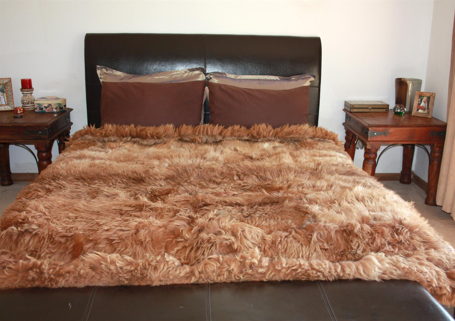 Alpaca fur rug or comforter