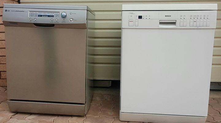 LG dishwasher Metallic finish Bosch dishwasher white