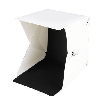 PULUZ 20cm Folding Portable 550LM Light Photo Lighting Studio Box Kit with 6 Colors Backdrops