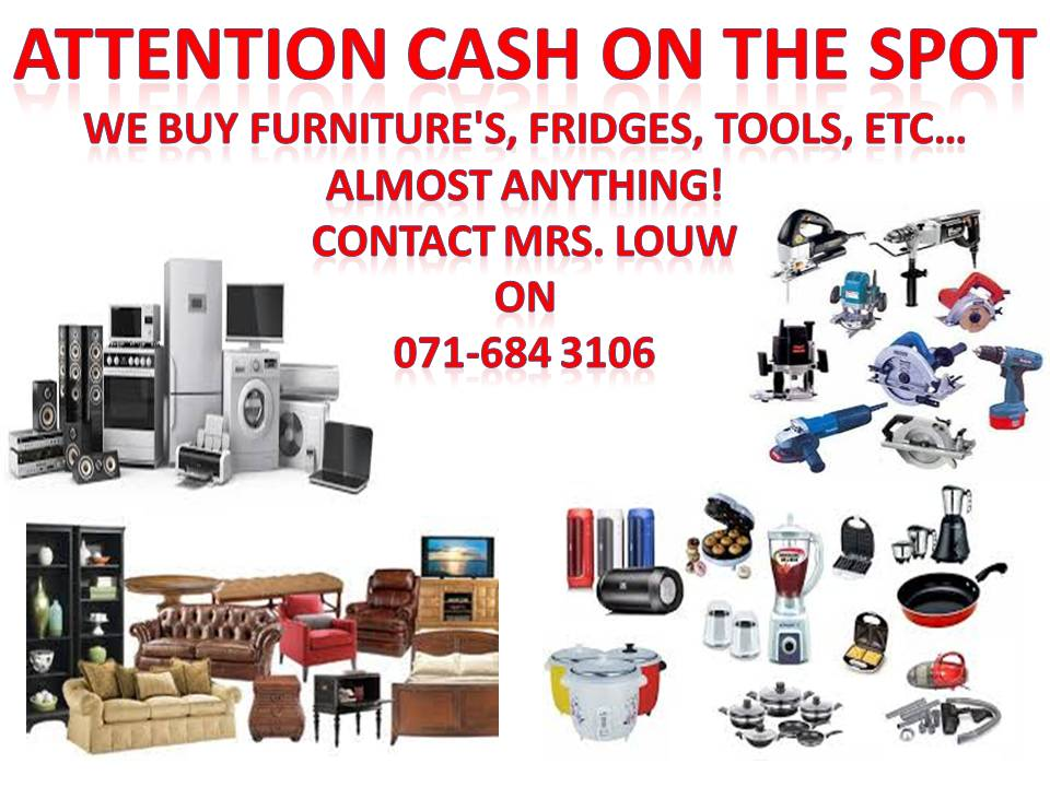 ATTENTION CASH ON THE SPORT WE BUY ALL FURNITURES