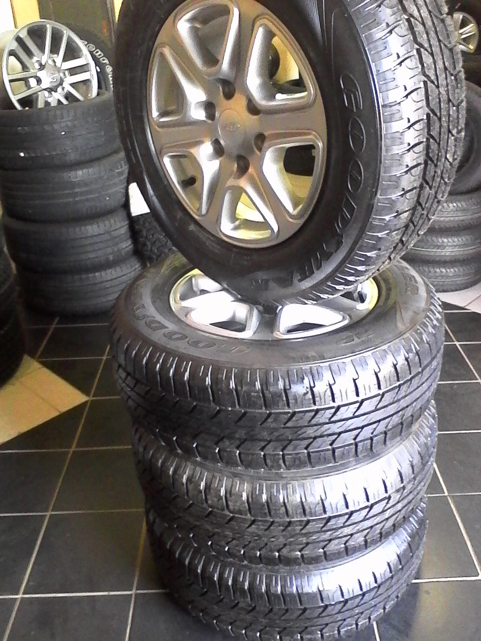New Ford Ranger 17 inch mags and 265/65/17 good year wrangler tyres at affordable prices , for 9999