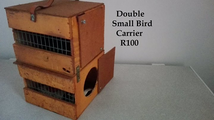 Double small bird carrier for sale