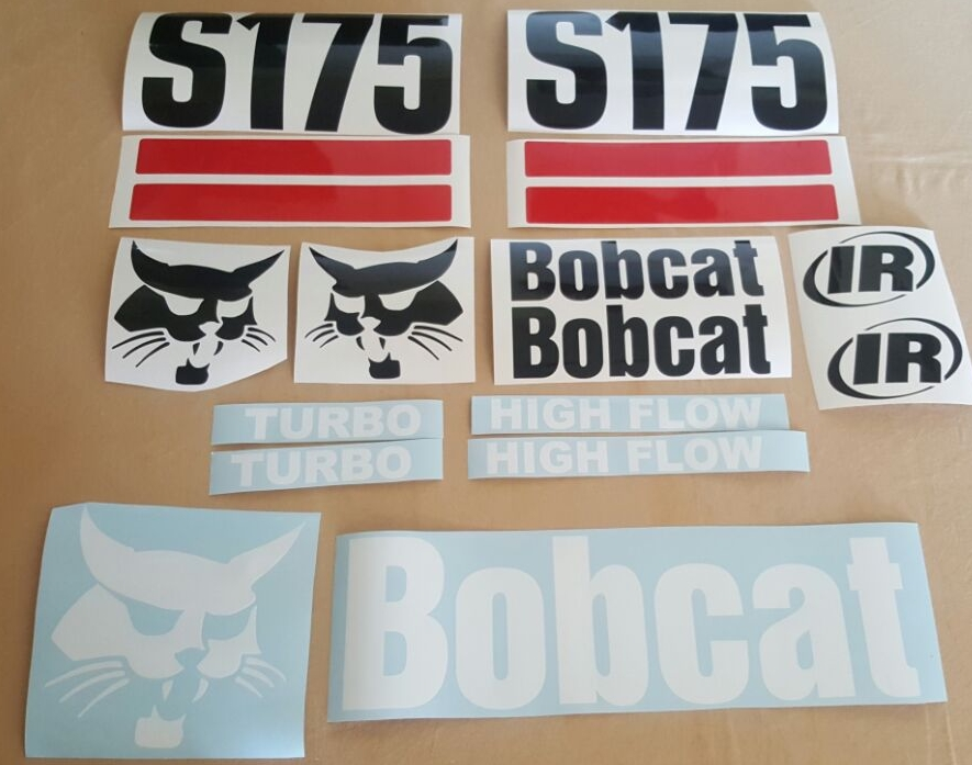 Bobcat skid steer decals stickers graphics kits