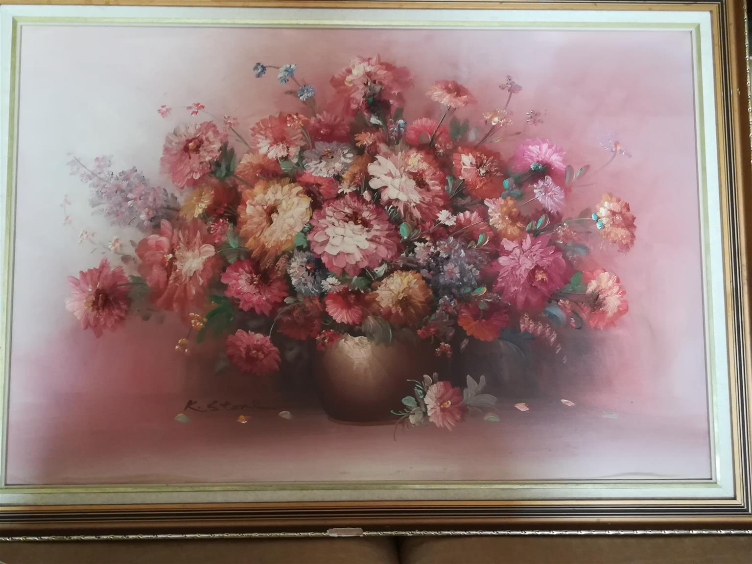 Still life oil painting, palet work