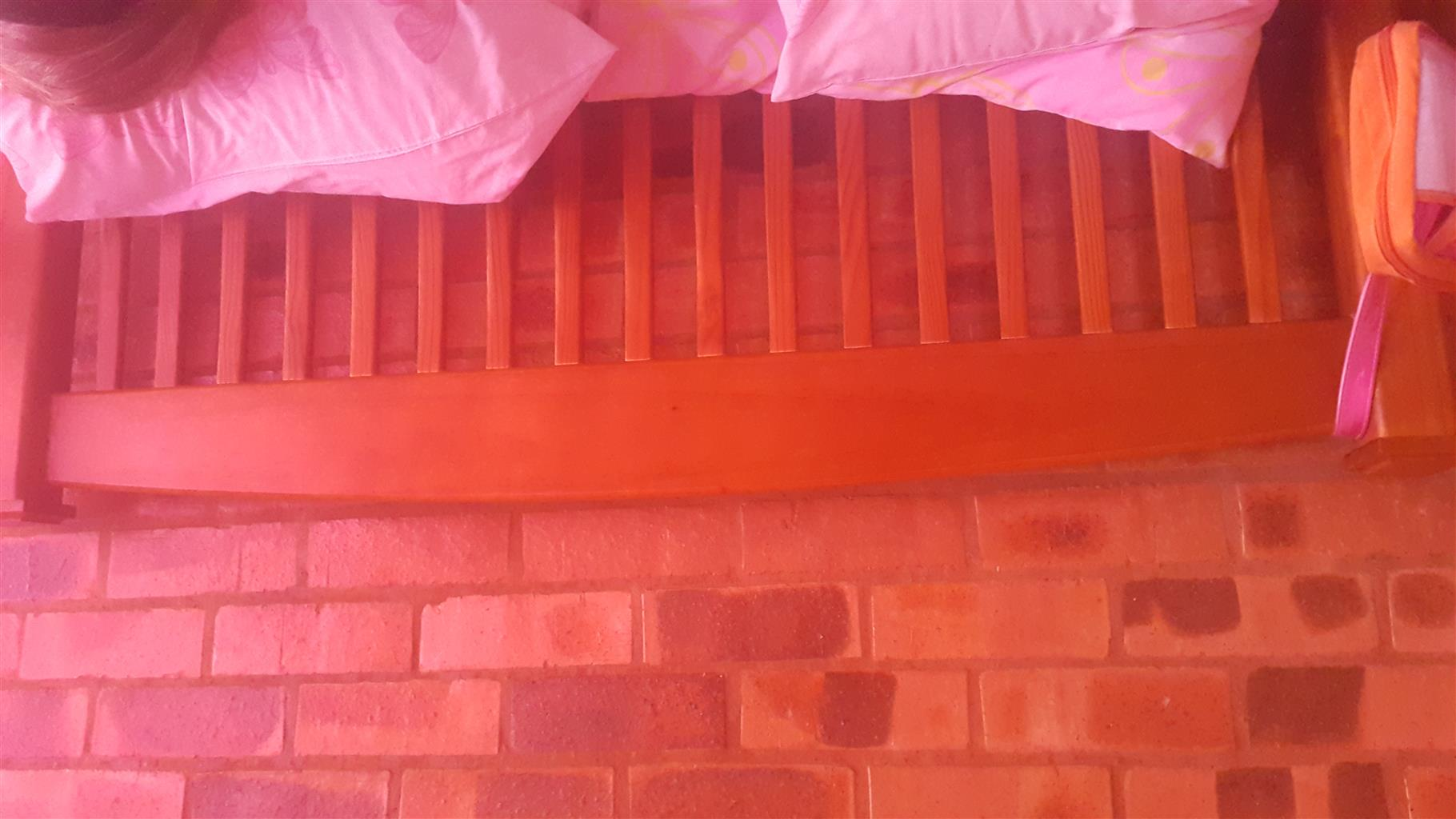 Double  beds x 2 ( light wood & dark wood)