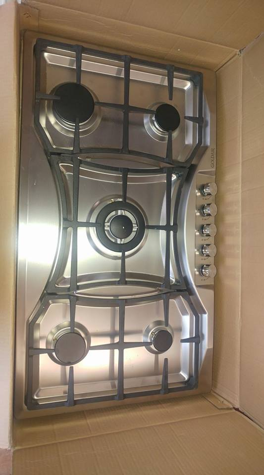 900mm 5 plaat stainless steel gas hob