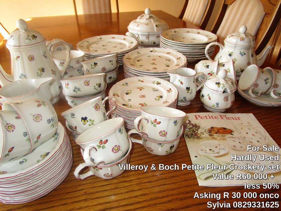 Sought after Villeroy & Boch PETITE FLEUR selection can be sold separately