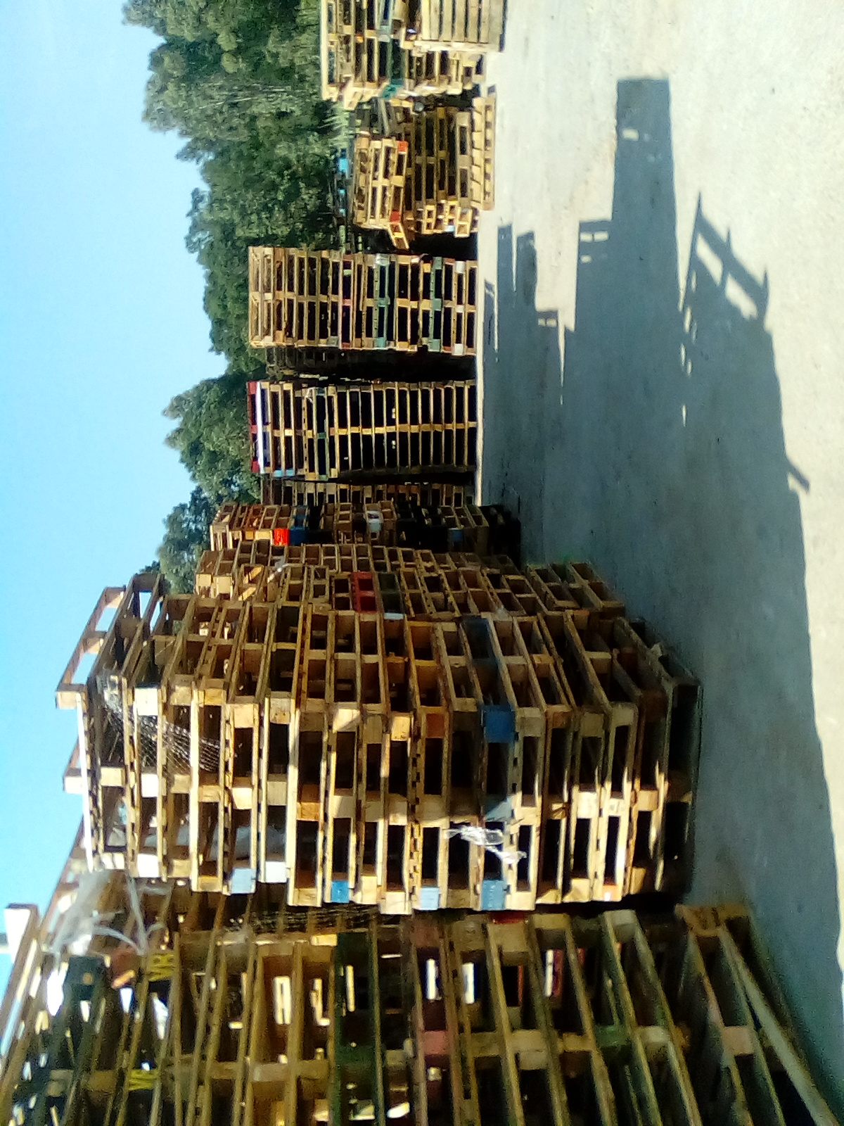 Second hand wooden pallets for sale.