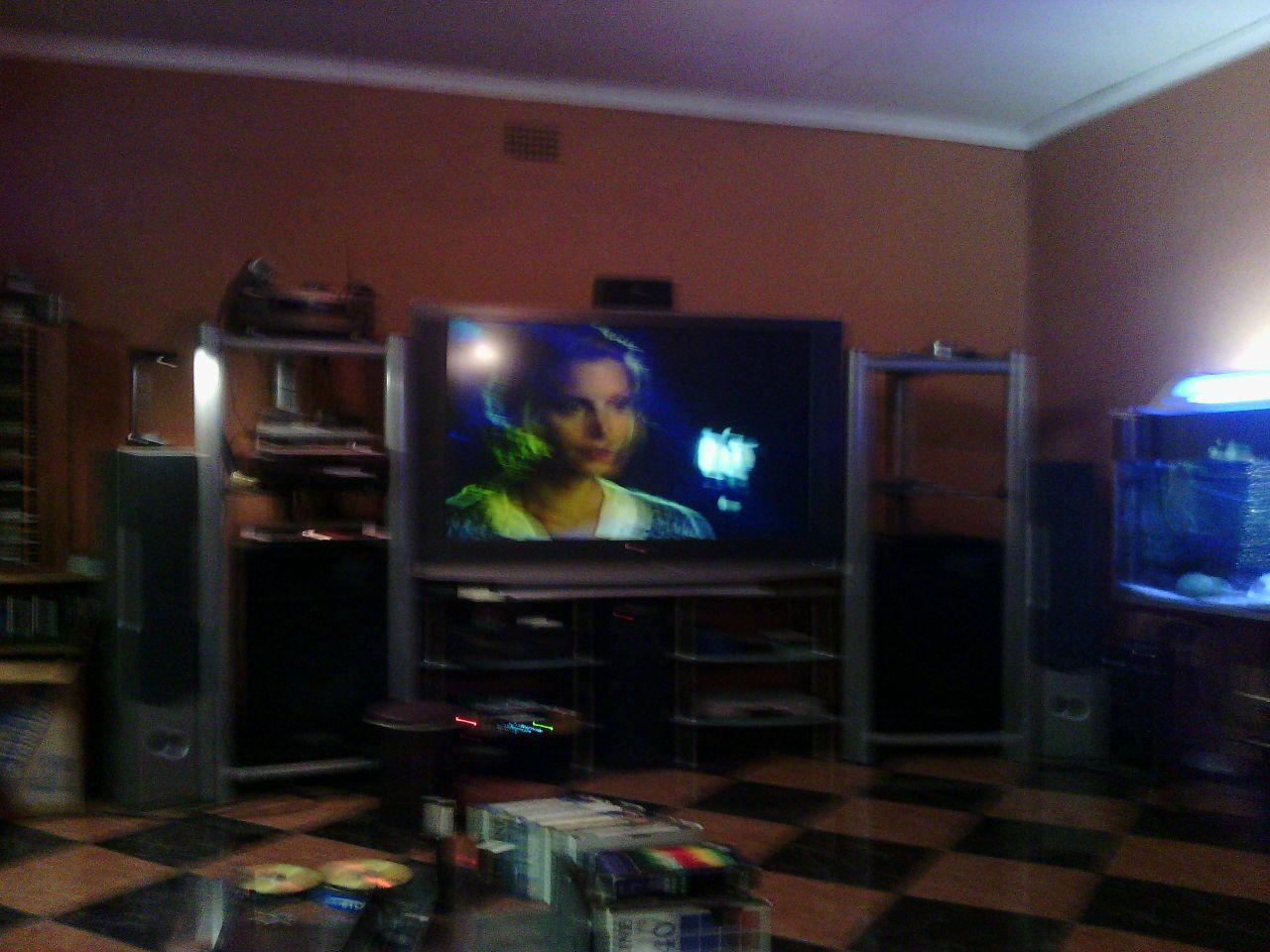 Yamaha amplifier & big size TV