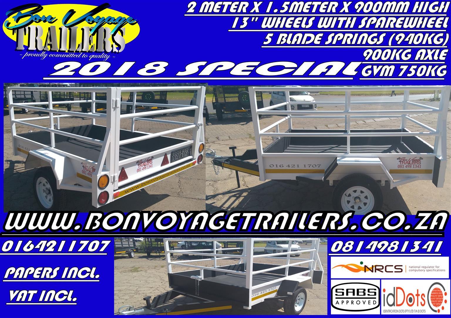 2 meter trailers