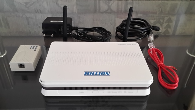 Modem: Billion Bipac 7300NX 3G/ADSL2+ Wireless N(300Mbs)