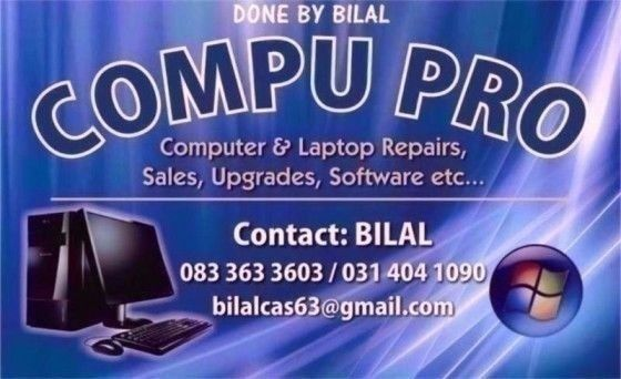 computer and laptop repairs durban chatsworth call 0833633603 we sell computers laptops etc.