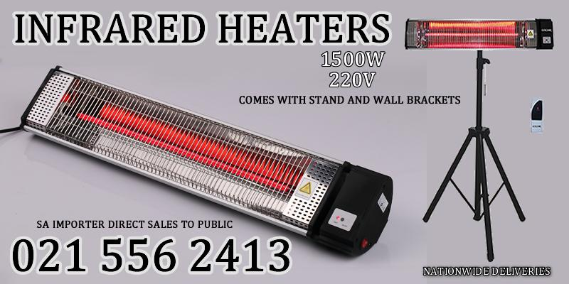 Ruby Infrared heaters Comes FREE ADJUSTABLE TRIPOD STAND, WALL MOUNTED BRACKET AND REMOTE
