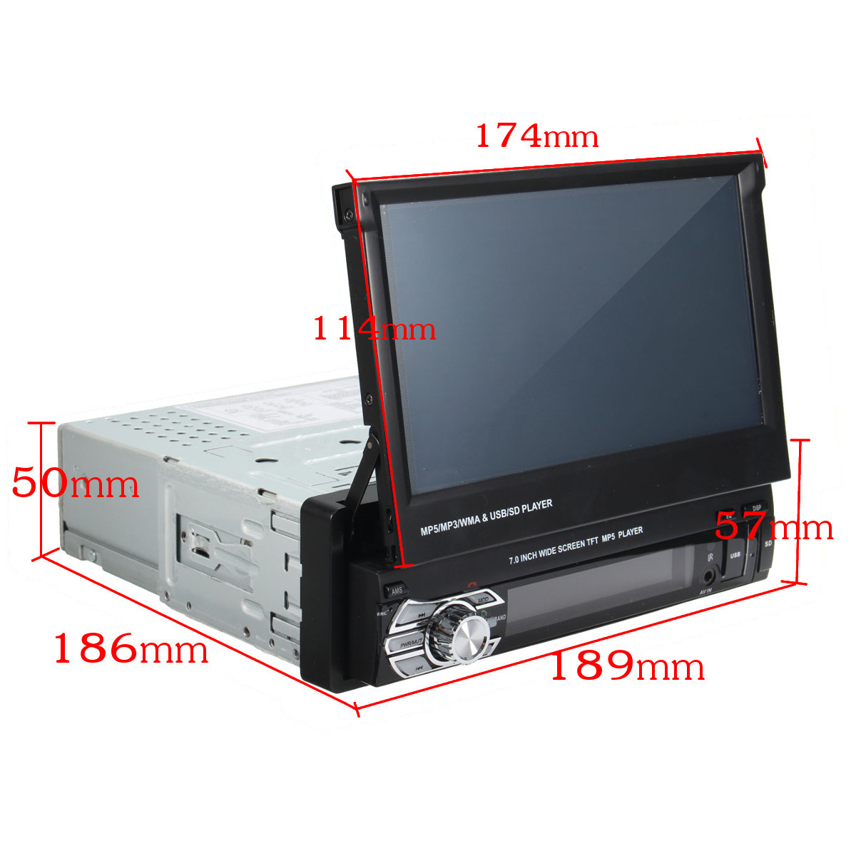 """Single 1 Din 7"""" Inch Car MP5 Player Touch Screen In Dash Stereo Radio HD BT FM"""