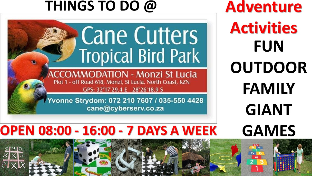 Cane Cutters Bird Park & Accommodation & Family Fun Giant Outdoor Game