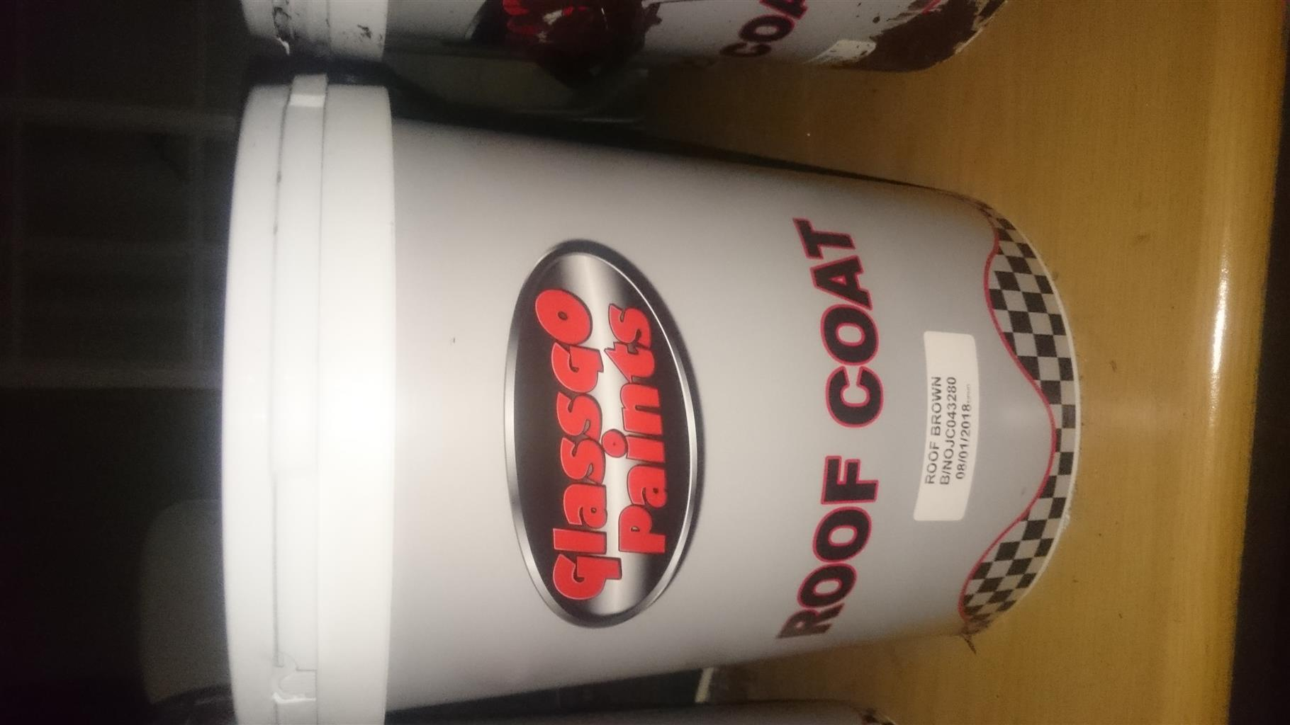 Brown roof paint 20 litre sealed tub x 2