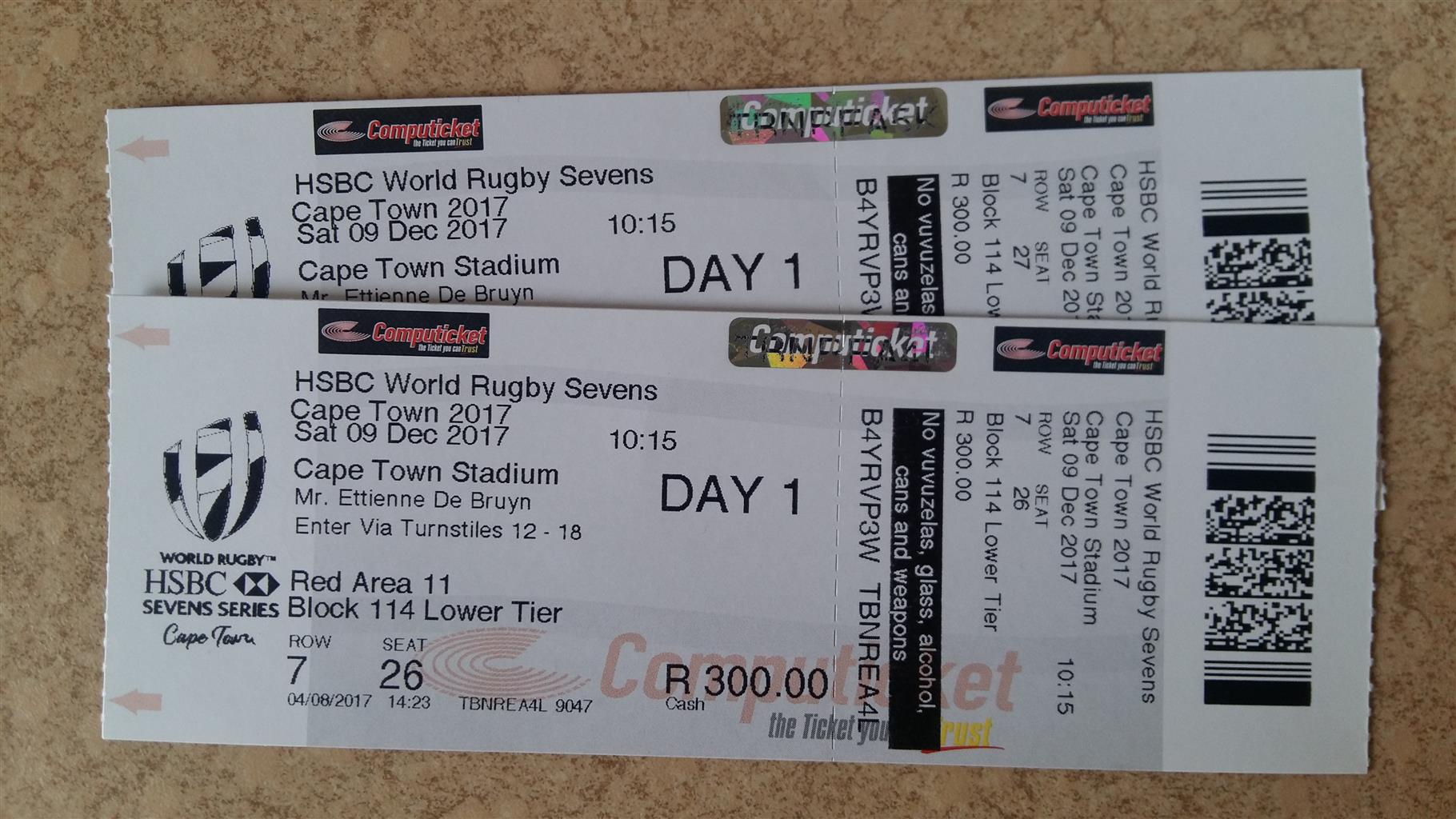 HSBC World Rugby Sevens tickets