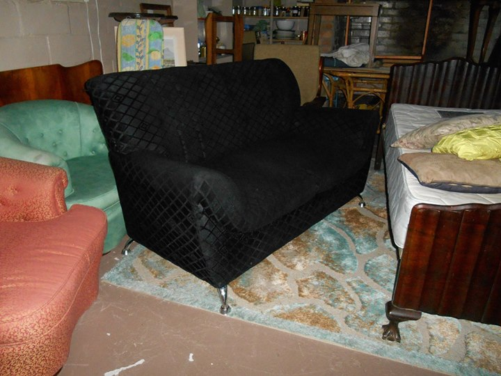 BLACK 2 SEATER COUCH... only a year old !