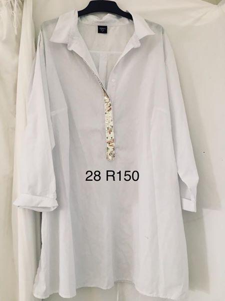 White size 28 blouse