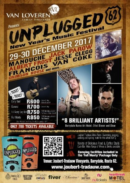 Unplugged62 NEW YEAR'S FESTIVAL, BARRYDALE