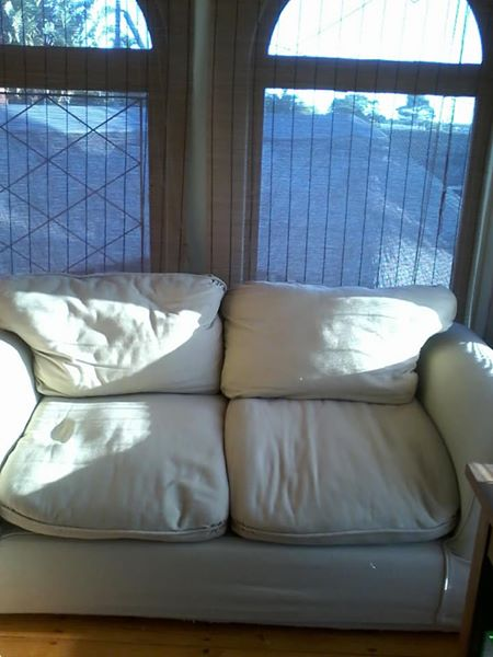 Slipcover couch / Immaculate condition# Scotchguard