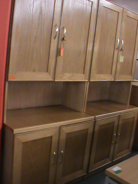 Oak 2 pce wall unit | Junk Mail