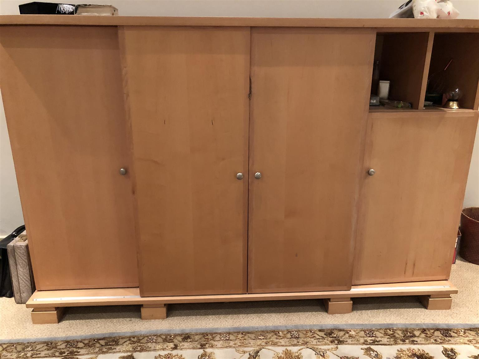 Wall unit solid beechwood | Junk Mail