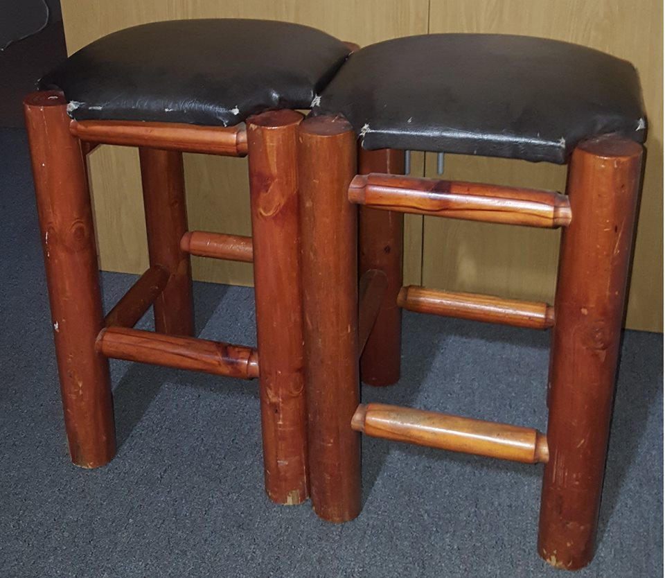 Bar stools Pair of bar stools for sale.
