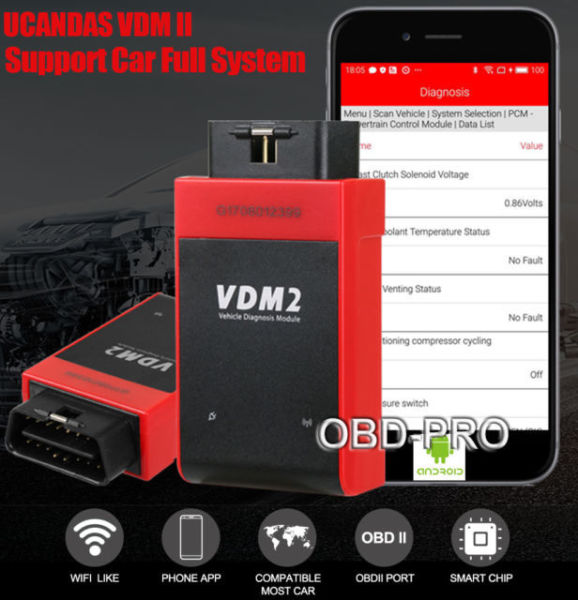 UCANDAS VDM2 WIFI Car Automotive Scanner