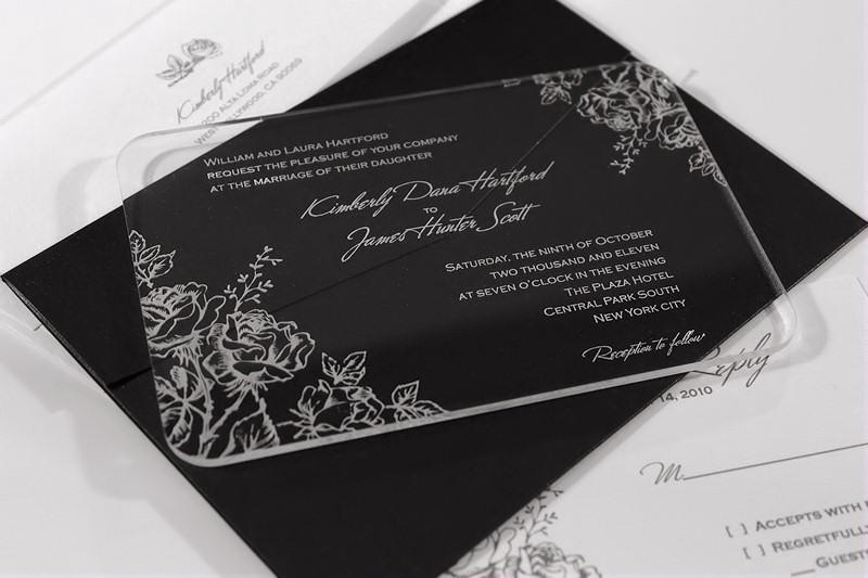 Acrylic wedding invitations Junk Mail