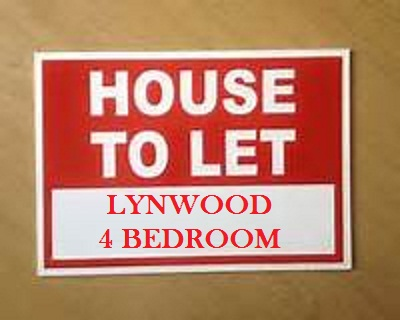 LYNWOOD HOUSE TO RENT