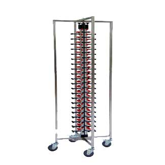 Mobile plate rack-for 84 plates-JW-DC84