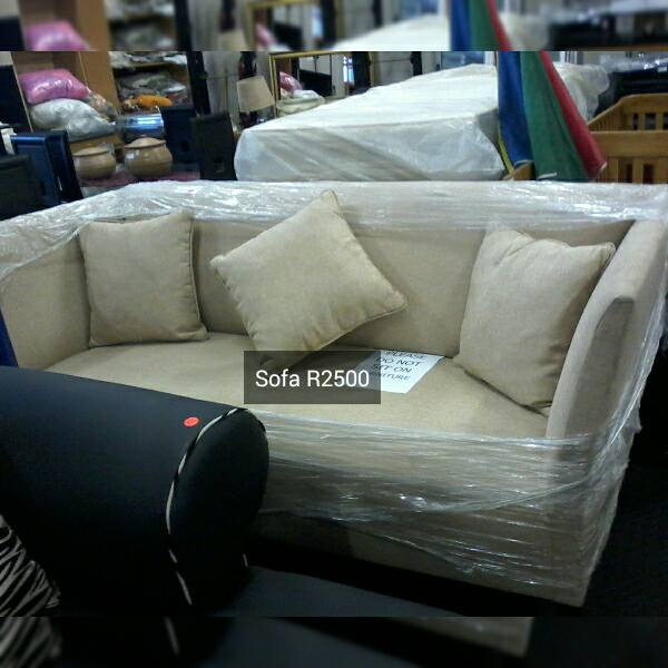 Beige 3 seater sofa for sale