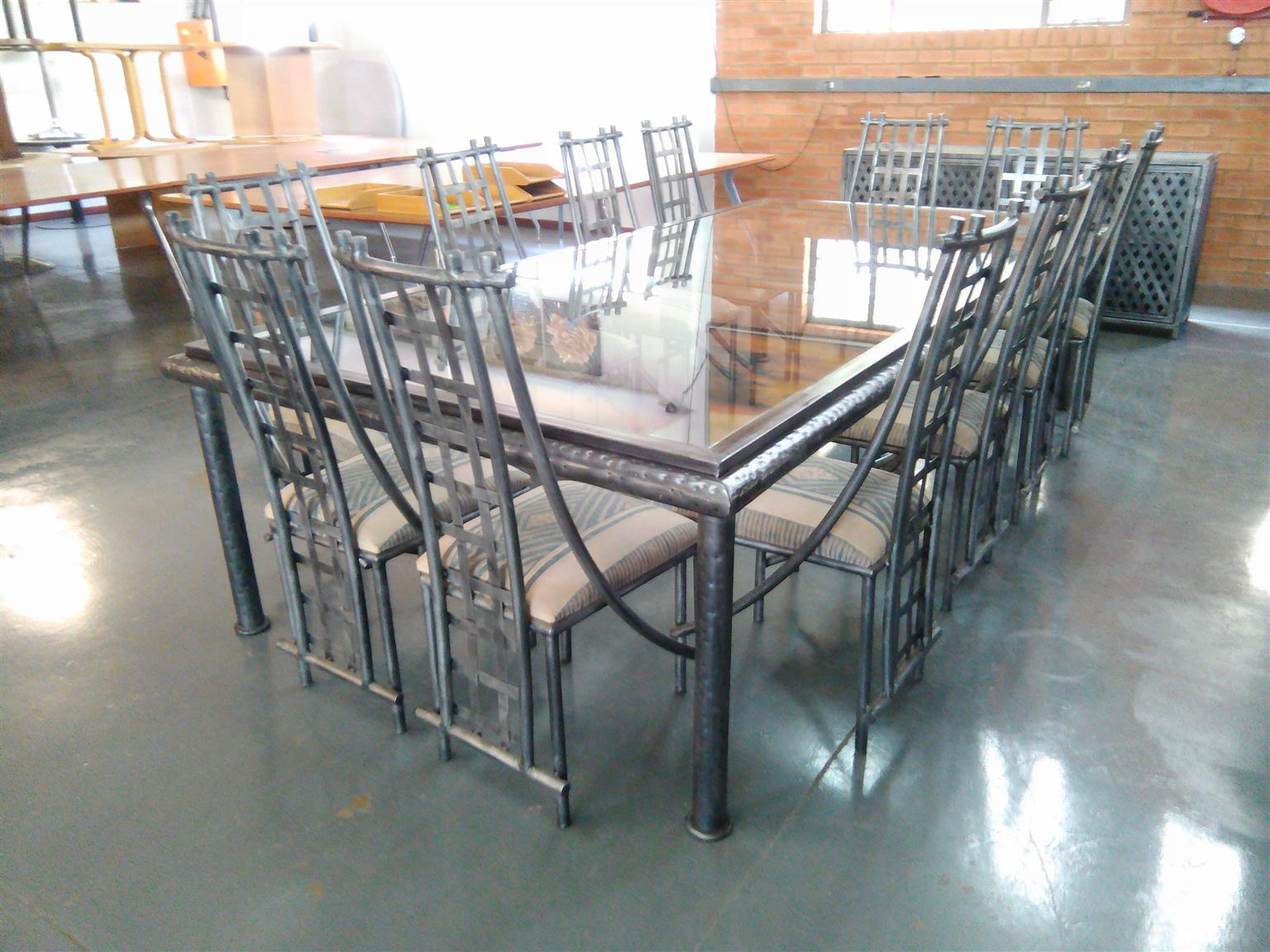Seater Glass Boardroom Table Plus Server And Chairs Junk Mail - Glass boardroom table